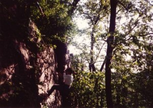 Me rappelling at Devil's Lake many (many) years ago