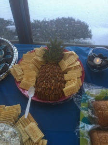 Launch party- food- pineapple