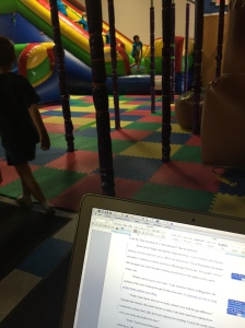 edits at the bouncy house